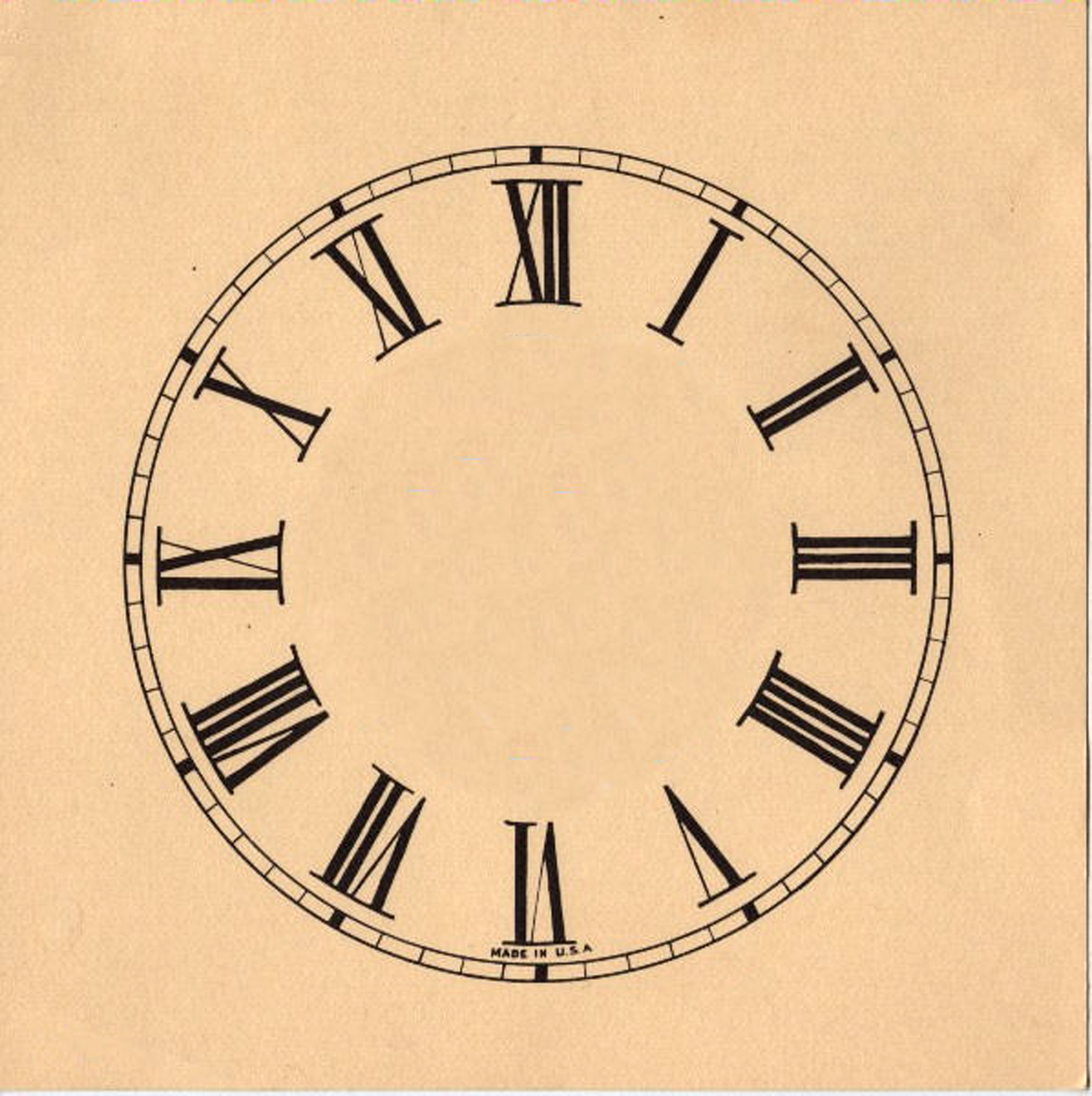 This Is Another Really Great Vintage Clock Face One Has With Roman Numerals You Could Also Print Up And Use It To Make Your Own Clocks
