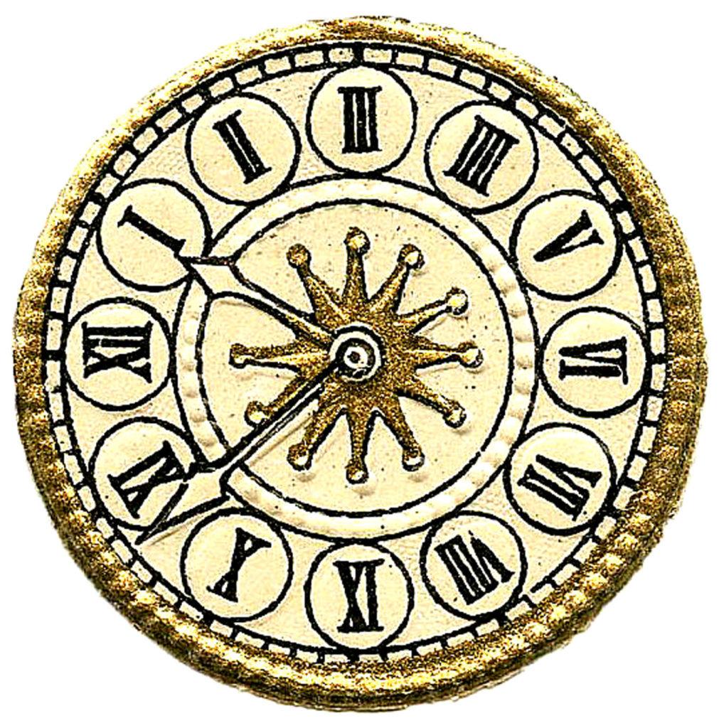 Victorian Clock Face Image