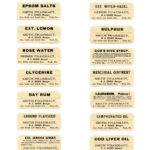 Free Vintage Printable Pharmacy Labels