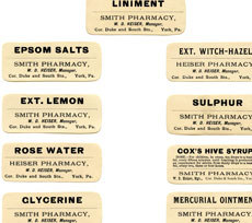 Free Printable Vintage Pharmacy Labels