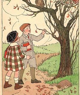 Autumn Scene – Plus Squirrel