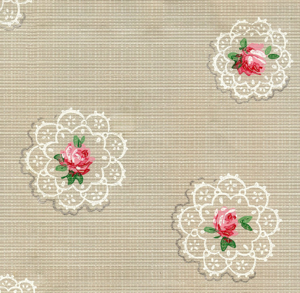12 Vintage Wallpapers Cabbage Roses And More The