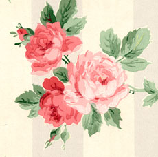 12 Vintage Wallpapers – Cabbage Roses and More
