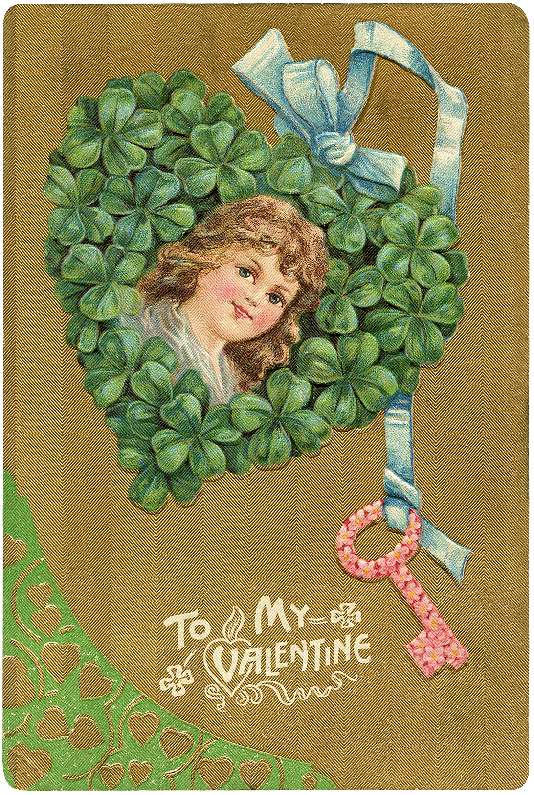 Valentine Shamrock Heart Girl