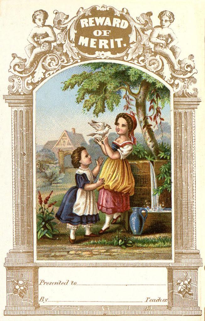 Reward of Merit Children with Dove