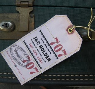 Craft Project – 2 Sided Luggage Tags