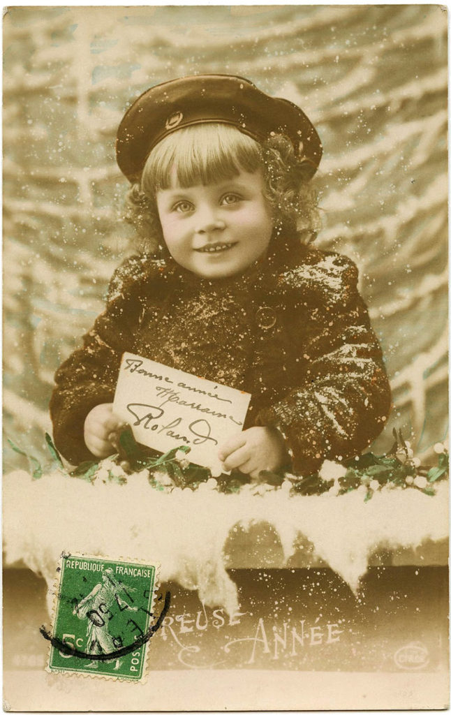 Snowy Child French Photo