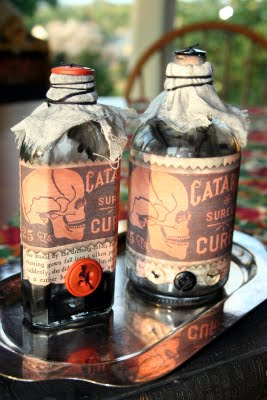 Brag Monday - Halloween Bottles from Mamie Jane's - The Graphics Fairy