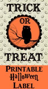Trick or Treat Printable Halloween Label