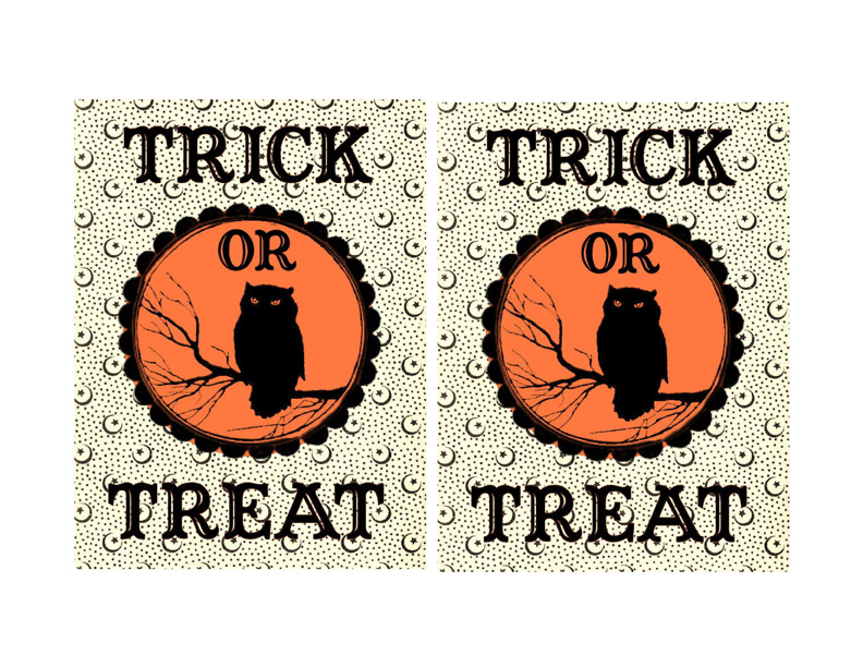 Printable Halloween Party Favor Labels