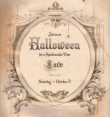 Brag Monday - Free Printable - Save the Date Halloween - The Graphics Fairy