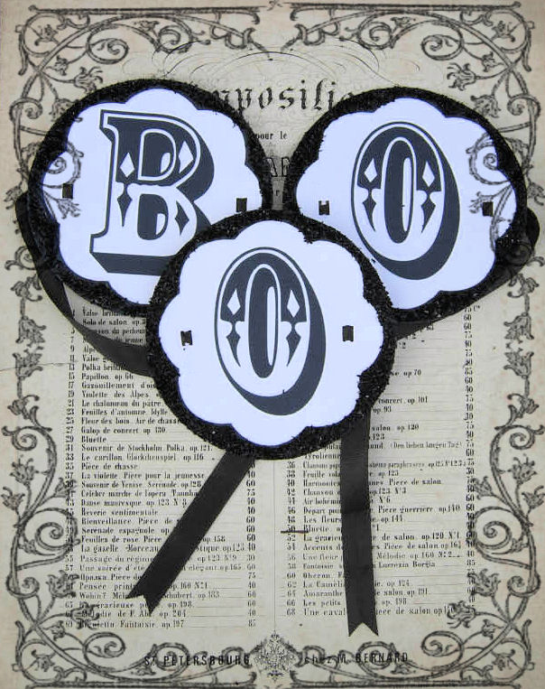 Finished Printable Boo Garland