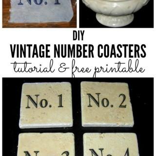 Omni Gel Transfer Method – Make Vintage Number Coasters!