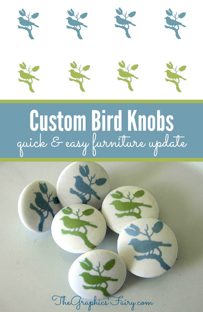 How to Make Custom Knobs - Birds - The Graphics Fairy