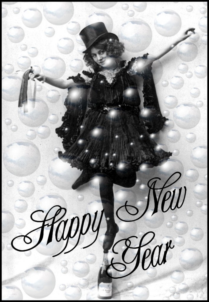 Champagne Girl New Year Clipart