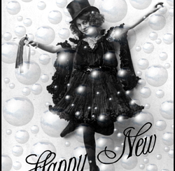 Free New Year Clip Art – Champagne Girl Photo