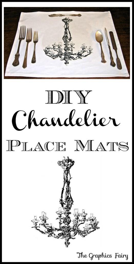 DIY Chandelier Place-Mats