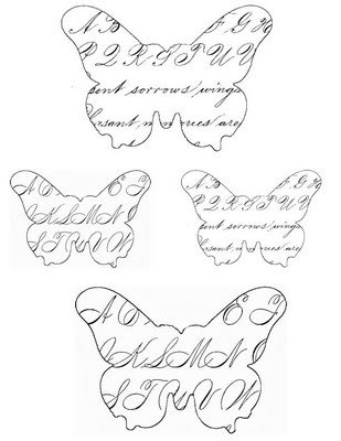 Craft Christmas Project  Glittered Paper Butterfly Ornaments