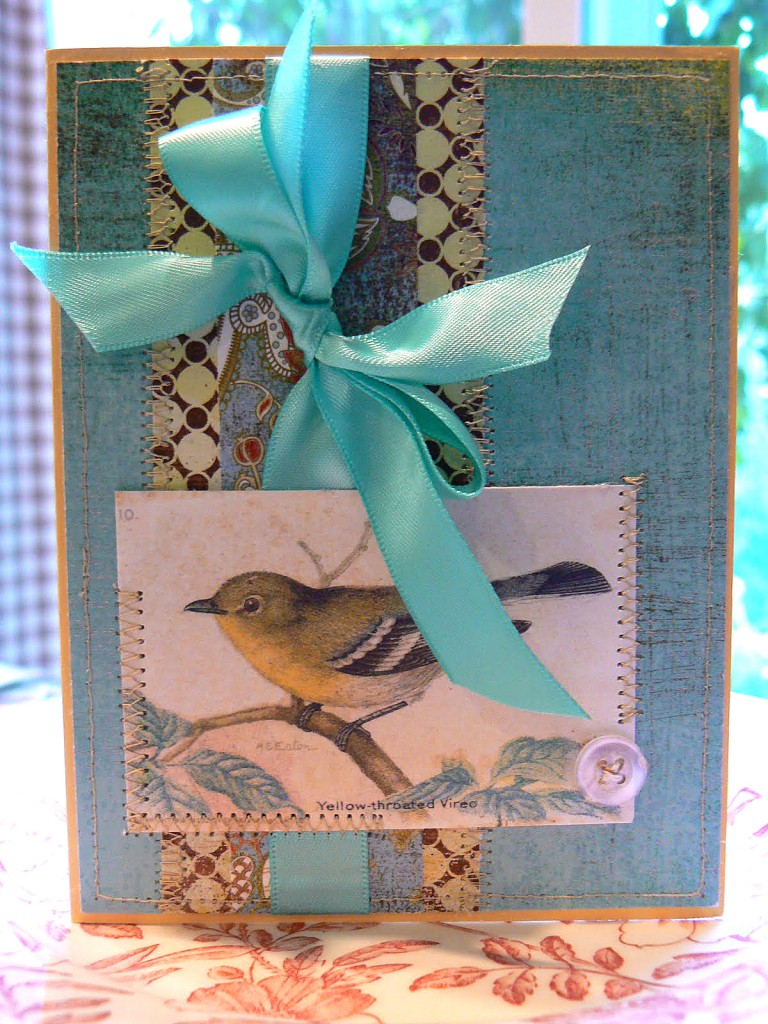 Handmade Bird Card