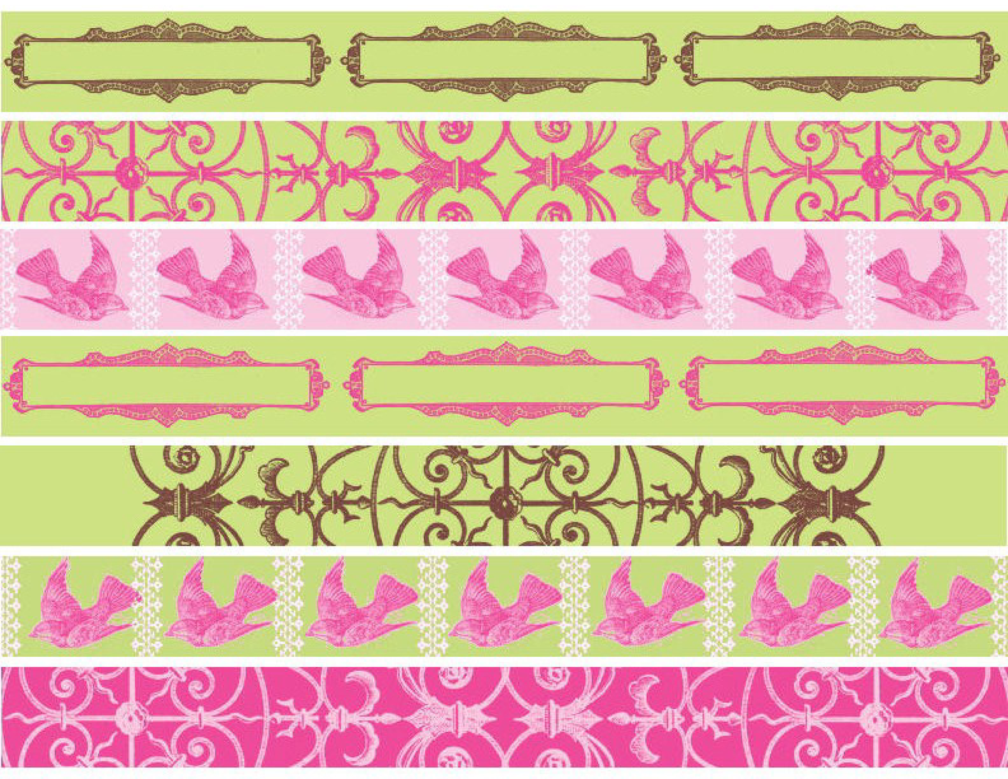This is a graphic of Satisfactory Printable Washi Tape