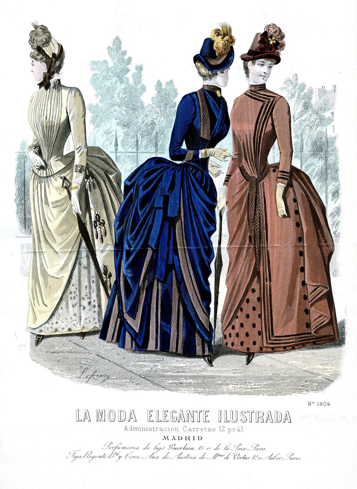 168f9a2793 Victorian Clip Art - Ladies Fashion Print - The Graphics Fairy