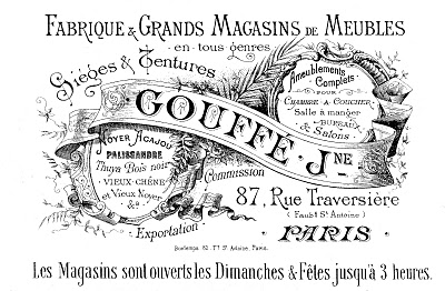 vintage Paris label graphic image fabrique
