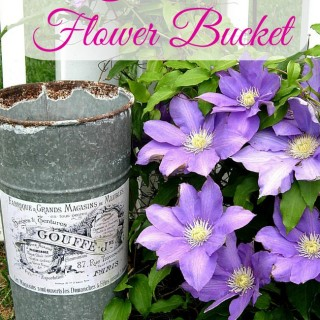 Crafty Project – French Flower Bucket – DIY