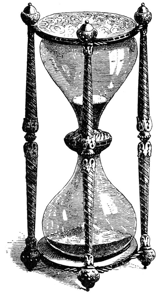 Antique Hourglass Clipart