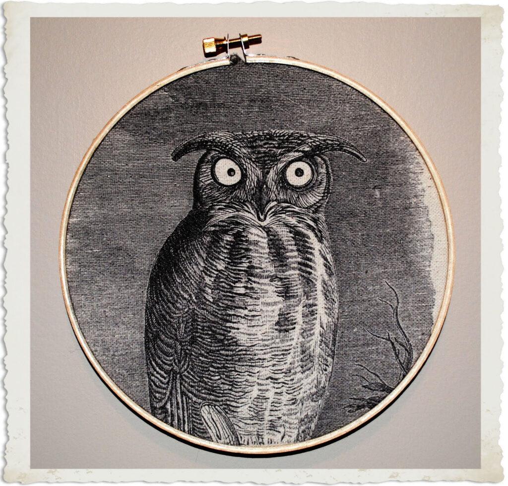 Halloween Owl Wall Decor with Hoop Frame