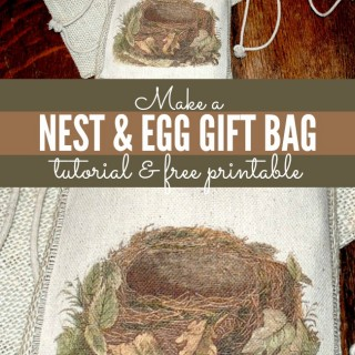 Crafty Project – Morris Nest and Egg Gift Bag – Plus Instant Art Printable