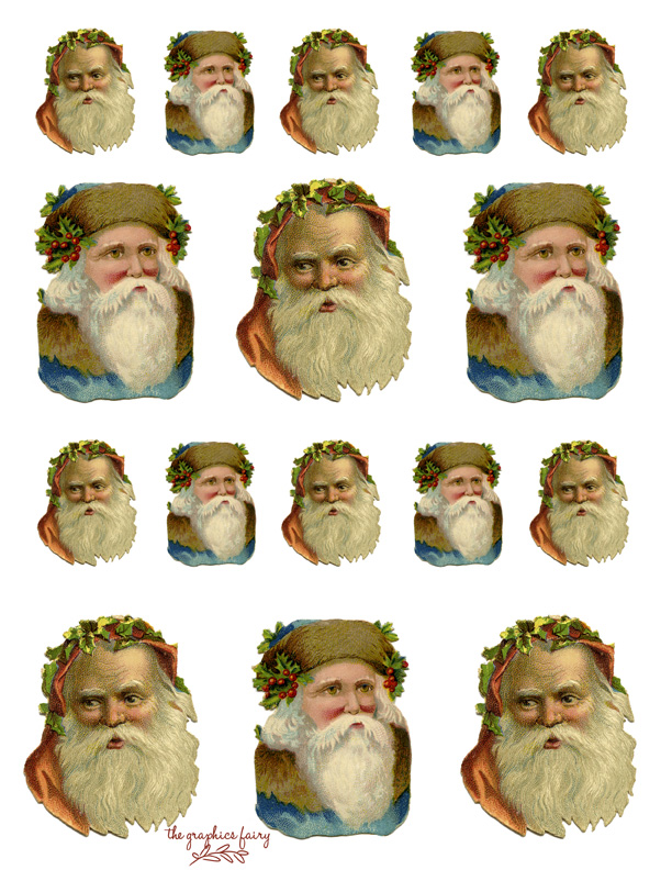 Santa Heads Printable
