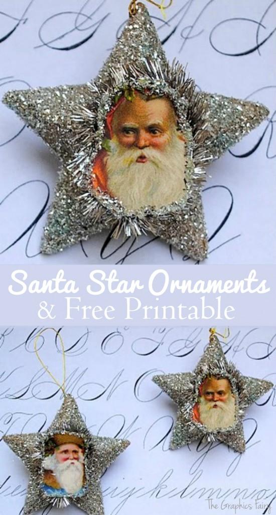 Make Santa Glitter Ornaments