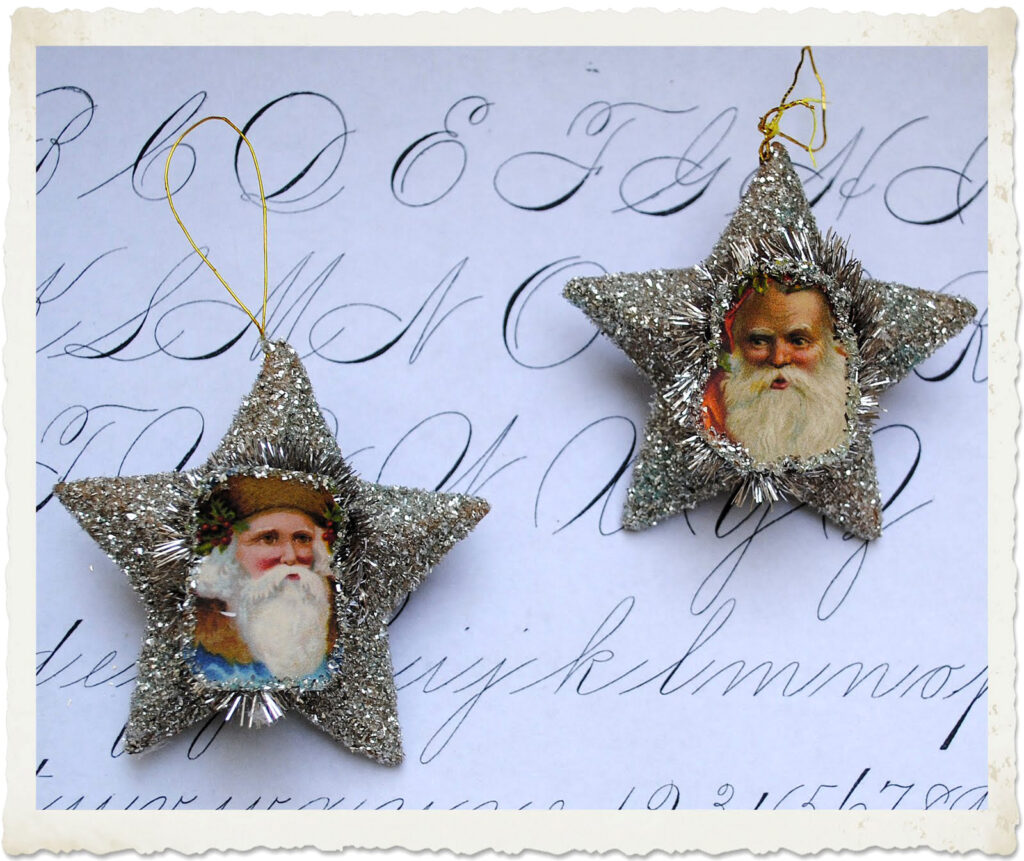Santa Star Ornaments Finished