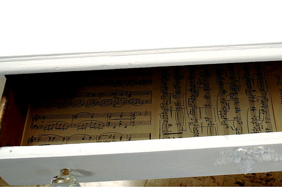 Sheet Music Drawer