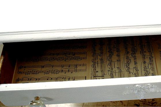 Sheet Music Drawer