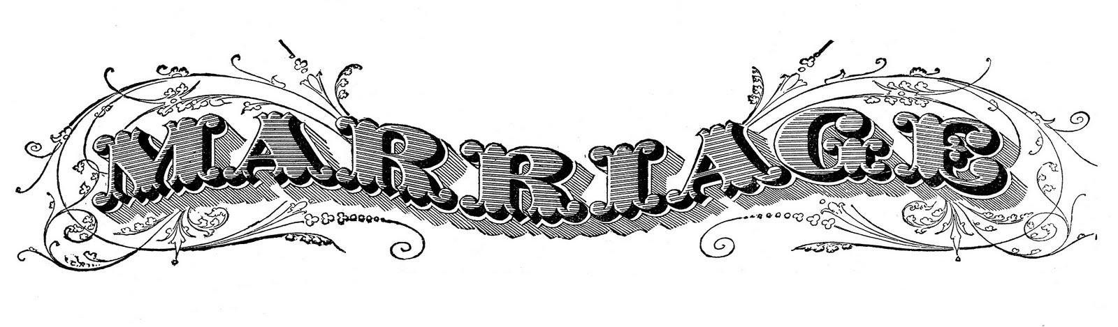 antique ephemera clip art printable marriage certificate the