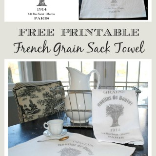 Crafty Project & Printable – French Grain Sack Towel