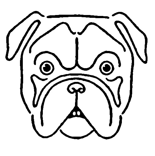 Vintage Kids Printable - Draw a Bulldog - The Graphics Fairy