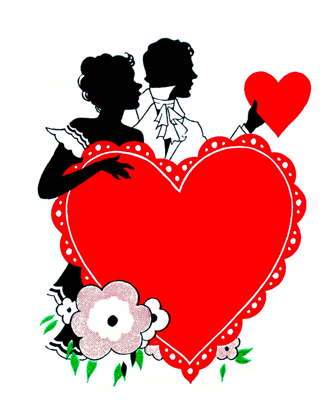 Vintage Valentine's Day Clip Art - Romantic Silhouettes - The ...