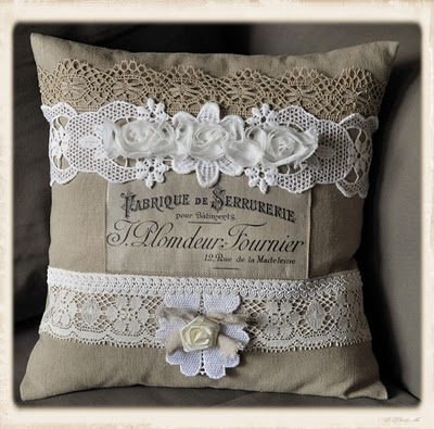 French Lace Pillow