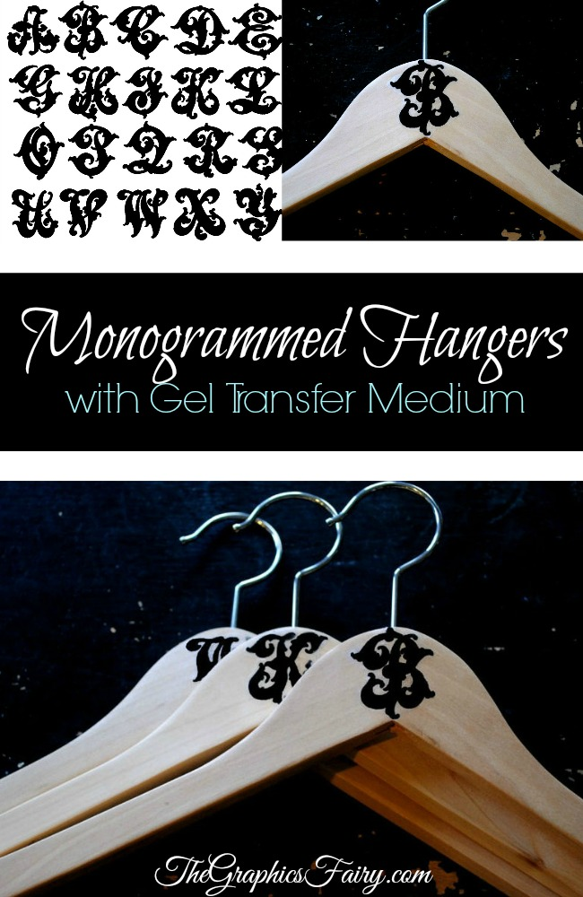 Crafty Project - Monogrammed Hangers - The Graphics Fairy