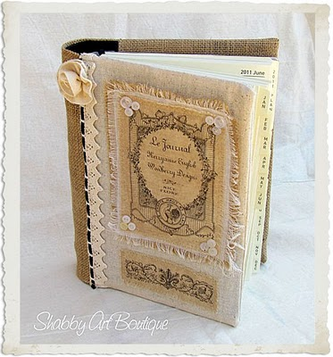 First Iu0027m Bragging About This Lovely French Burlap Journal By KerryAnne At  Shabby Chic Boutique KerryAnne Used The French Rooster Label Image From  HERE ...