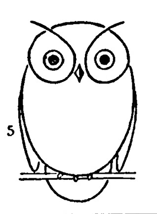 kids vintage printable draw some owls - Drawing Images For Kids