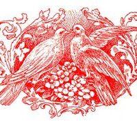 Vintage Wedding Image - Doves and Scrolls Ephemera