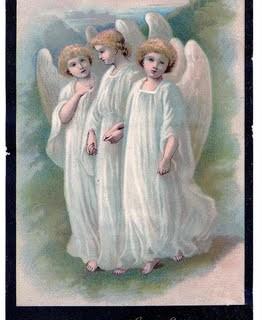 Vintage Easter Clip Art – 3 Beautiful Angels