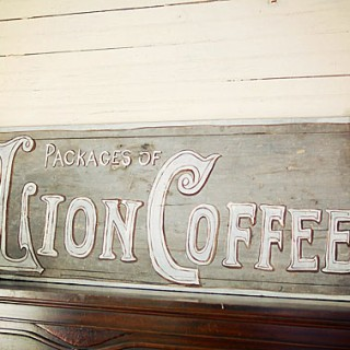 Hand Painted Coffee Sign