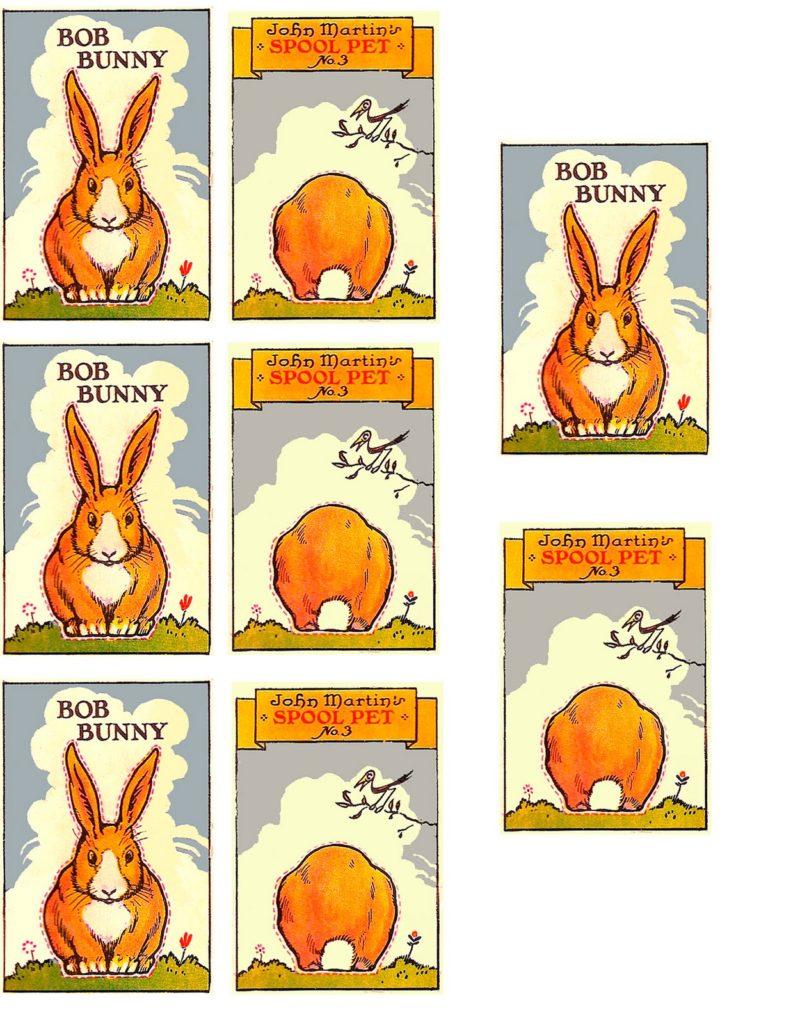 Printable Spool Bunny Activity