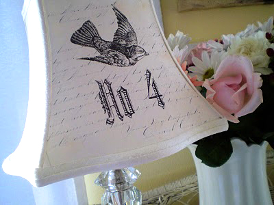 Vintage bird lampshade the graphics fairy lampshade project mozeypictures Choice Image