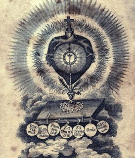 Antique Clip Art – Glorious French Sacred Heart – Holy Card