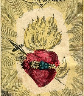 Antique Graphic – Amazing French Holy Card – Sacred Heart